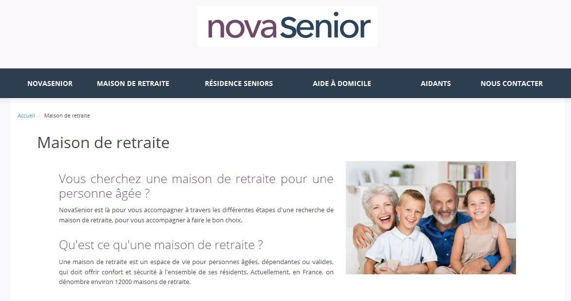 Novasenior : soins et places en maisons de retraite