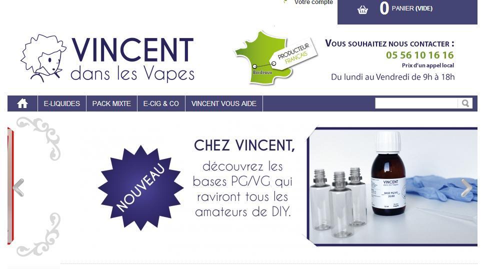 Vincent dans les vapes : vendeur de e-liquides et e-cigarettes